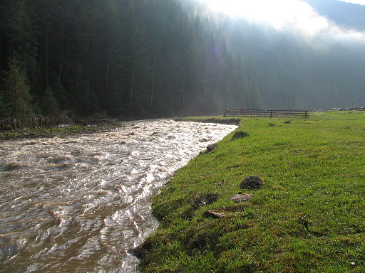 Into The Carpathians White Tisza River Ukraine